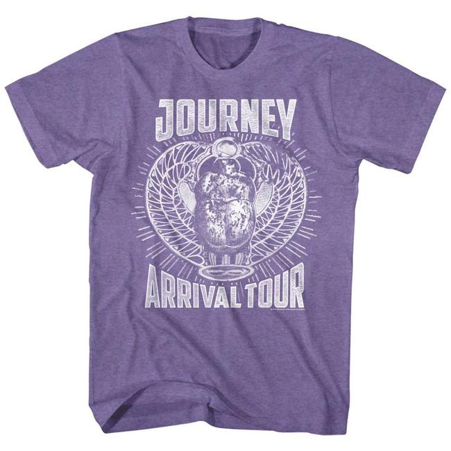 Journey Monochrome Arrival Retro Purple Heather Adult T-Shirt