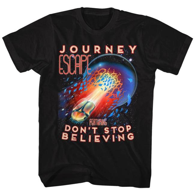 Journey Don't Stop Believing Black Adult T-Shirt