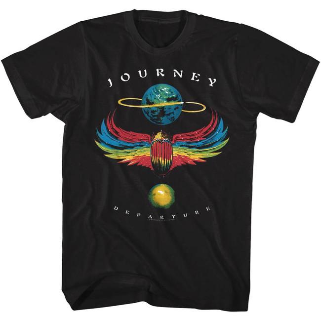 Journey Departure Black Adult T-Shirt