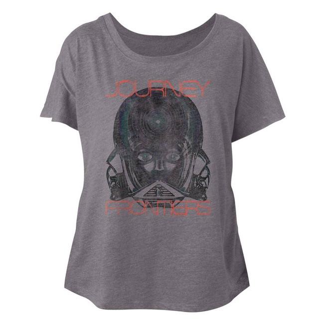 Journey Faded Frontiers Heather Junior Women's Dolman T-Shirt