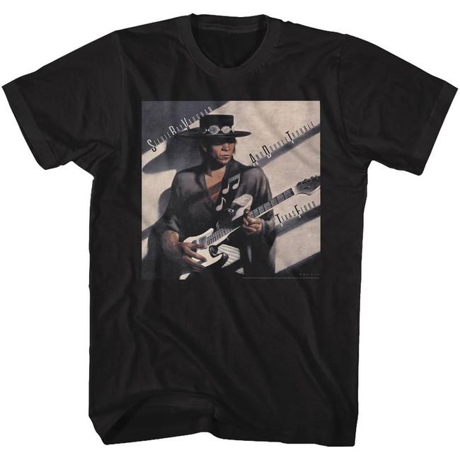 Stevie Ray Vaughan Texas Flood Black Adult T-Shirt