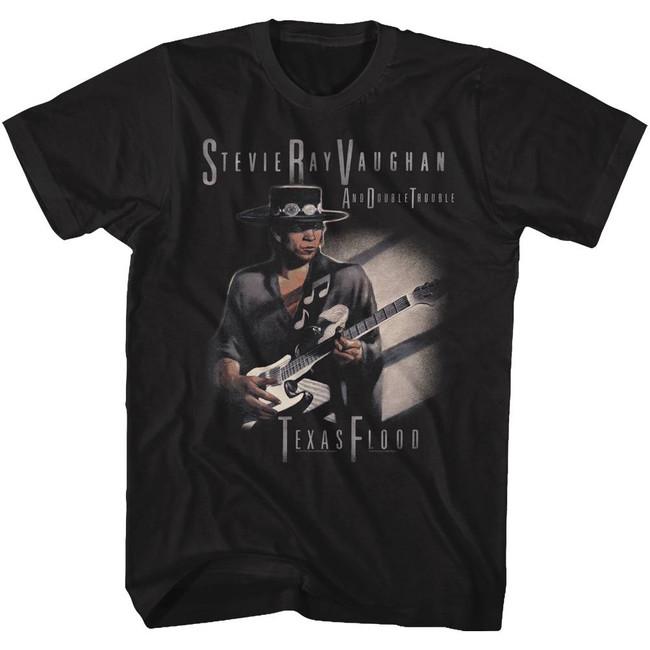 Stevie Ray Vaughan Texas Flood Too Black Adult T-Shirt