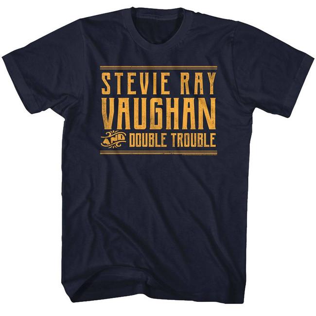 Stevie Ray Vaughan Srvanddt Navy Adult T-Shirt