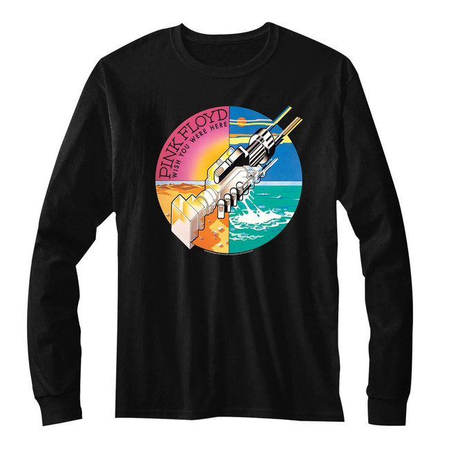 Pink Floyd Classic Wish You Were Here Hands Black Adult T-Shirt