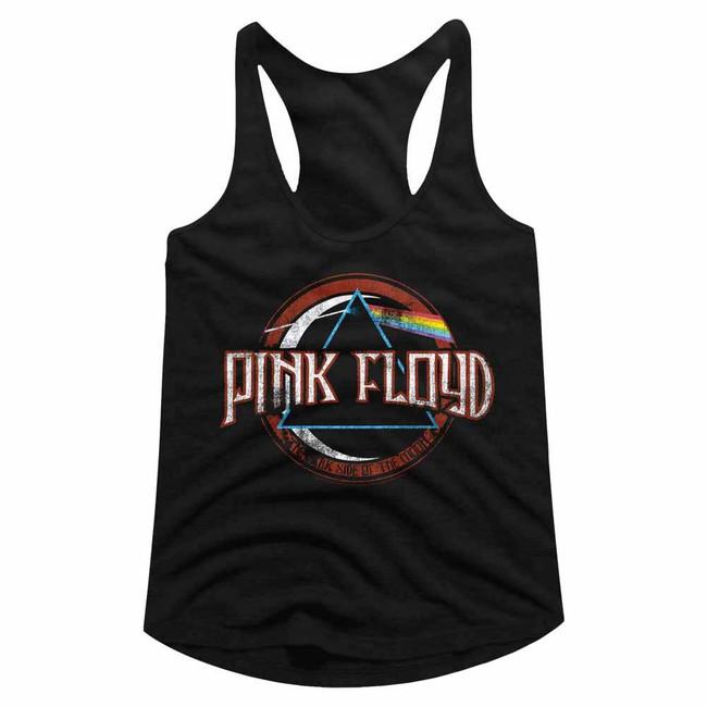 Pink Floyd Black Junior Women's Racerback Tank Top T-Shirt