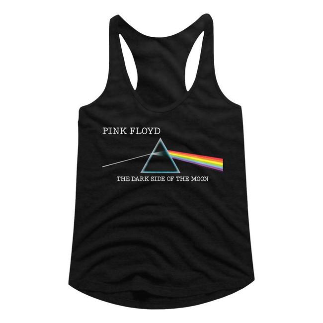 Pink Floyd Dark Side Of The Moon Redux Black Junior Women's Racerback Tank Top T-Shirt