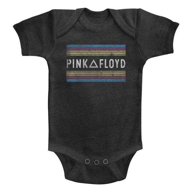 Pink Floyd Rainbows Vintage Smoke Infant S/S Heather Bodysuit-12M