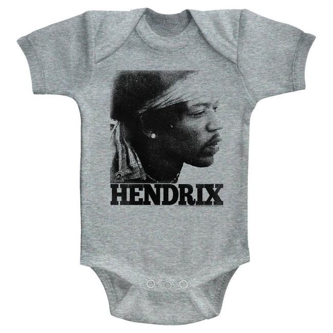Jimi Hendrix Vintage Face Heather Infant Baby Onesie T-Shirt