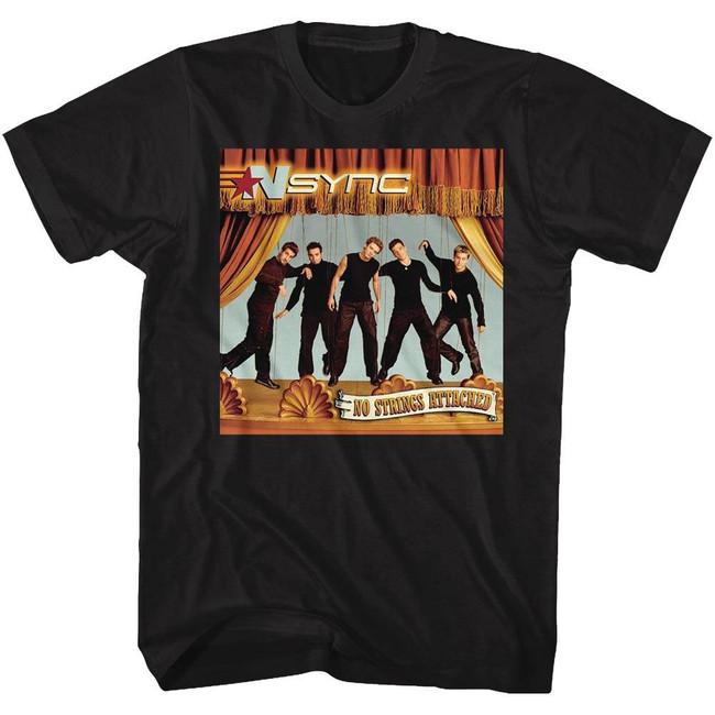 NSYNC No Strings Attached Black Adult T-Shirt