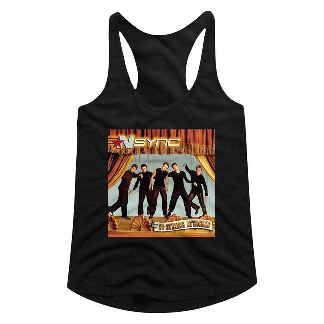 NSYNC No Strings Attached Junior Women's Racerback Tank Top T-Shirt