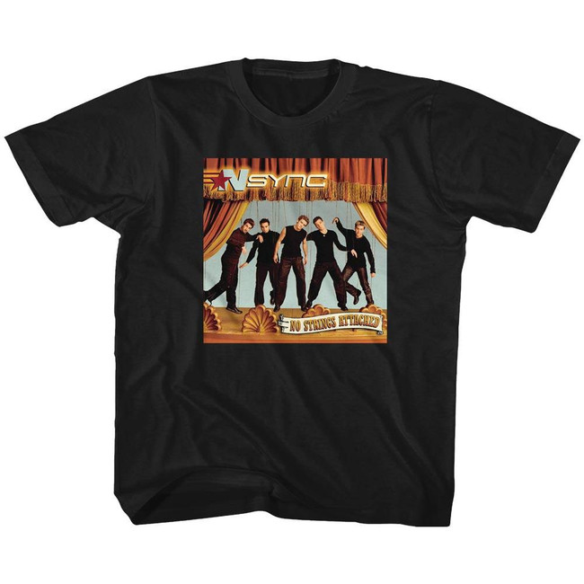 NSYNC No Strings Attached Black Toddler T-Shirt