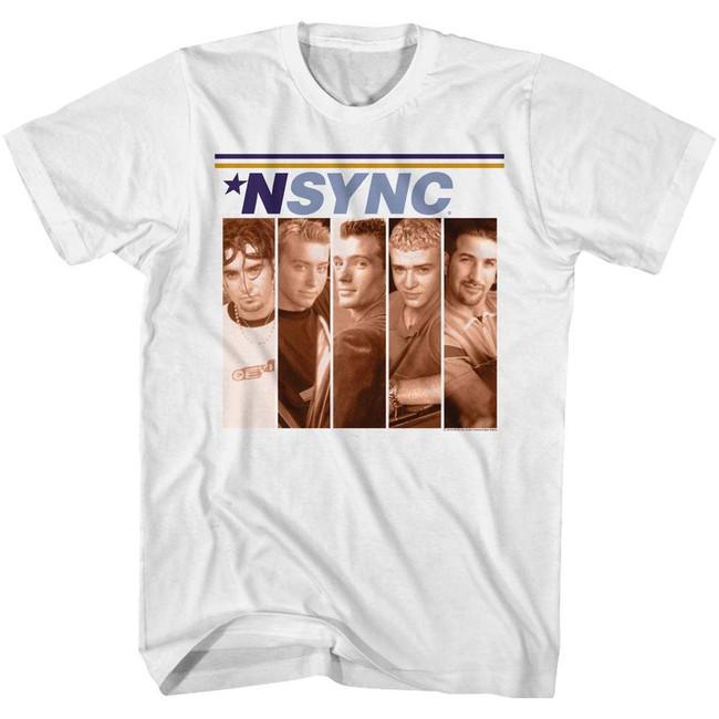 NSYNC Boxes White Adult T-Shirt