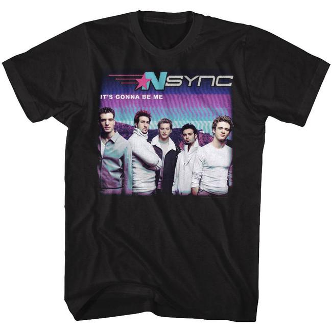 NSYNC It's Gonna Be Me Black Adult T-Shirt
