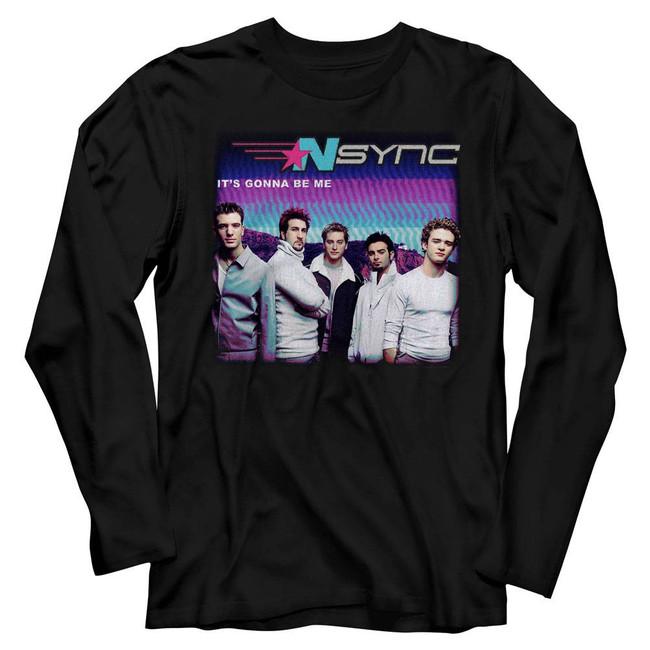 NSYNC It's Gonna Be Me Black Adult Long Sleeve T-Shirt