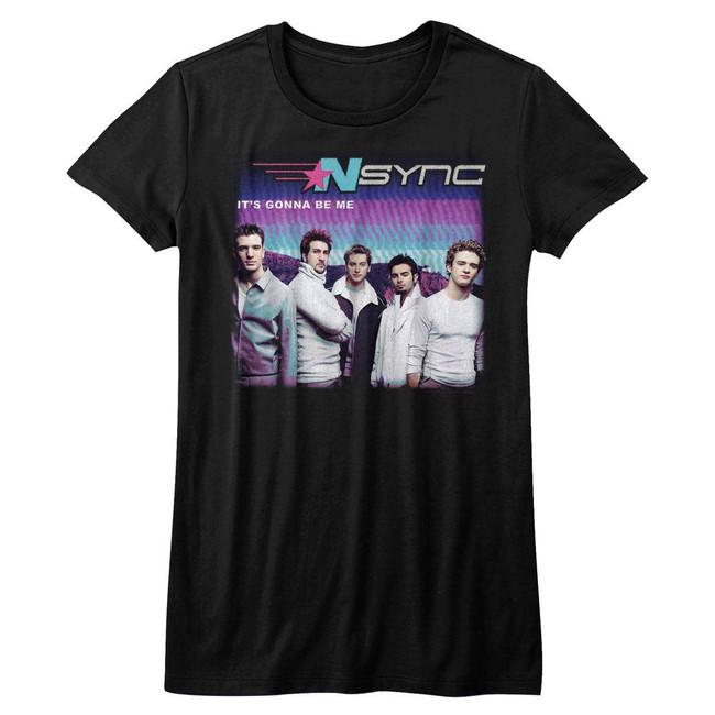 NSYNC It's Gonna Be Me Black Junior Women's T-Shirt