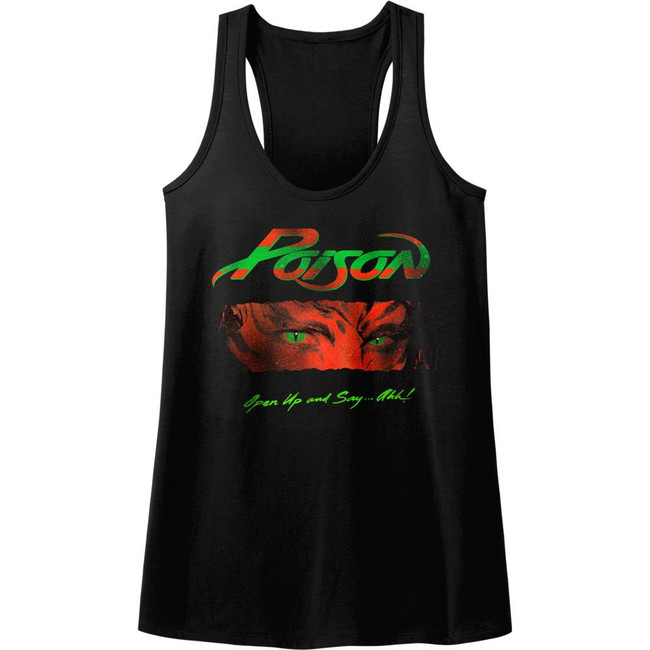 Poison Open Up And Say Ahh Black Junior Women's Racerback Tank Top T-Shirt