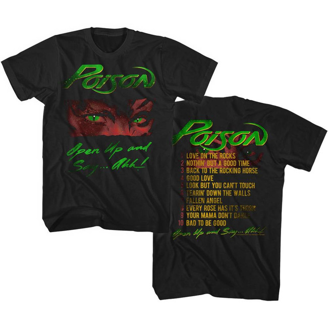 Poison Open Up Tracklist Black Adult T-Shirt