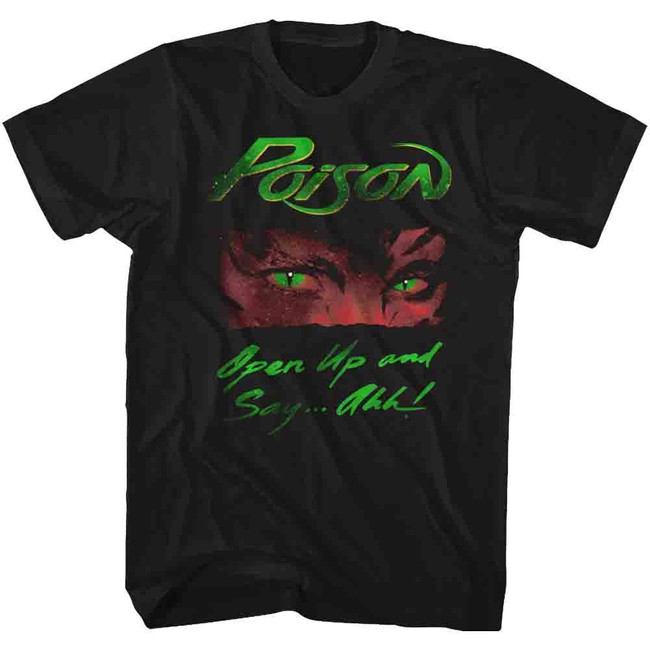 Poison Open Up Black Adult T-Shirt