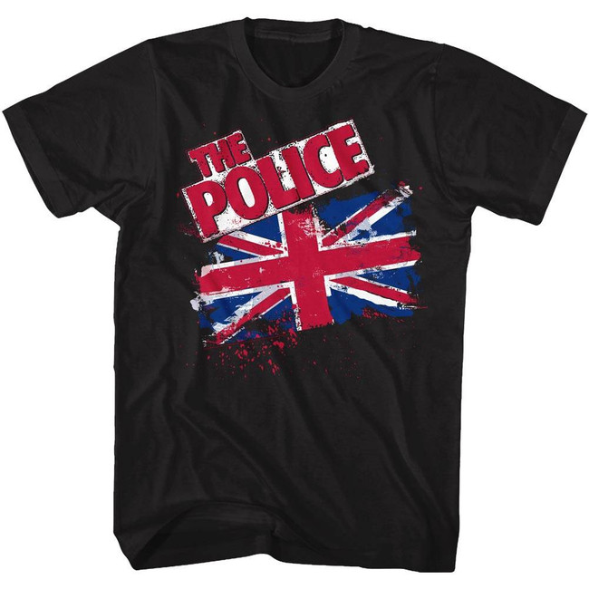 The Police Union Jack Black Adult T-Shirt