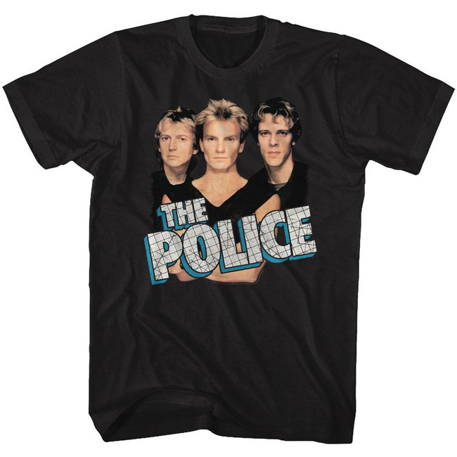 The Police Boys 'N' Blue Black Adult T-Shirt