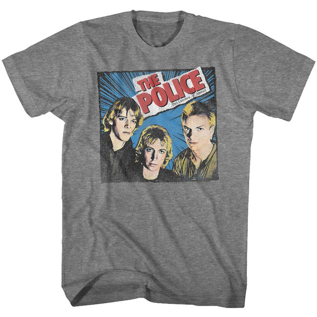 The Police Comic Heather Adult T-Shirt