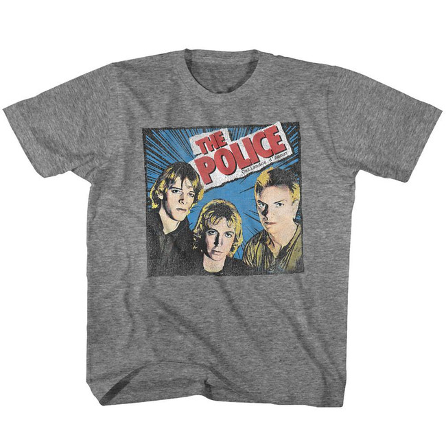 The Police Comic Heather Youth T-Shirt