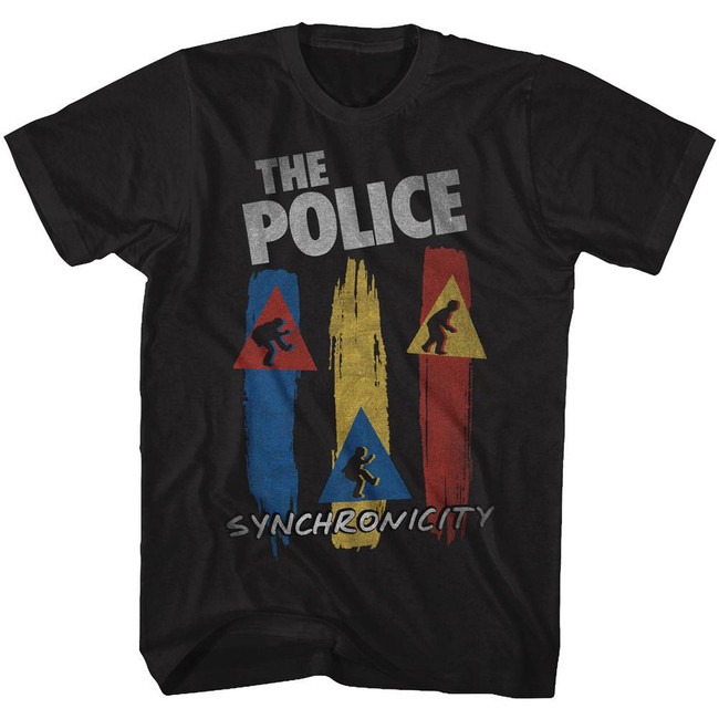 The Police Synchronicity Black Adult T-Shirt