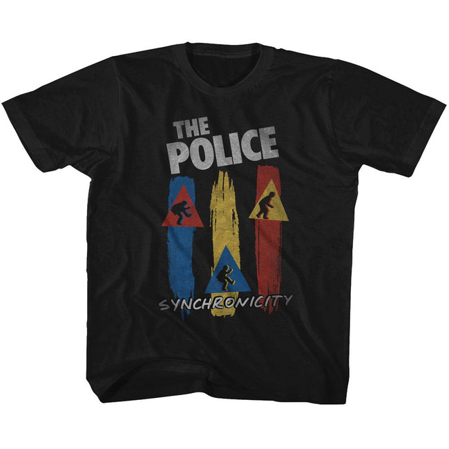 The Police Synchronicity Black Youth T-Shirt