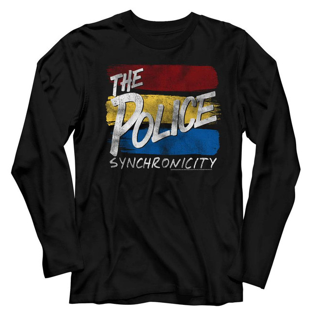 The Police Synchronicitynicity Black Adult Long Sleeve T-Shirt