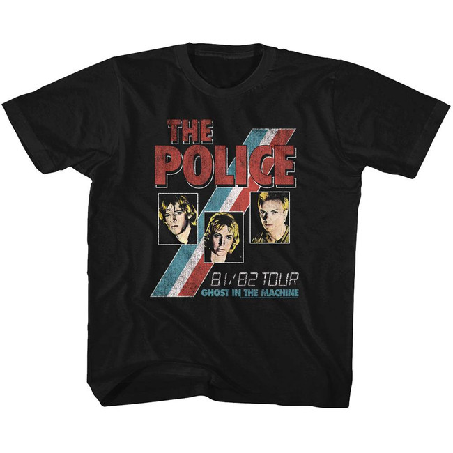 The Police Ghost In The Machine Black Youth T-Shirt