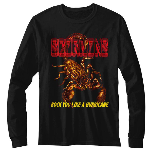 Scorpions Irl Black Adult Long Sleeve T-Shirt