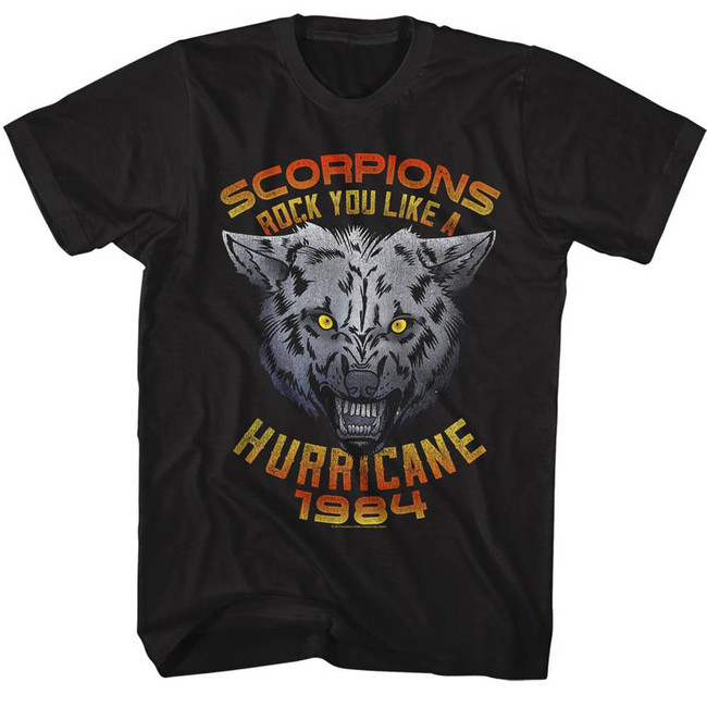 Scorpions Wolf Black Adult T-Shirt