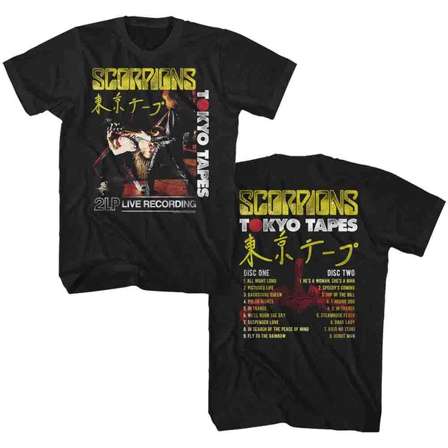 Scorpions Tokyo Tapes Black Adult T-Shirt