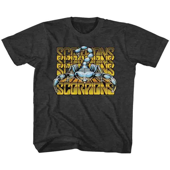 Scorpions Metallic Logos Black Heather Toddler T-Shirt