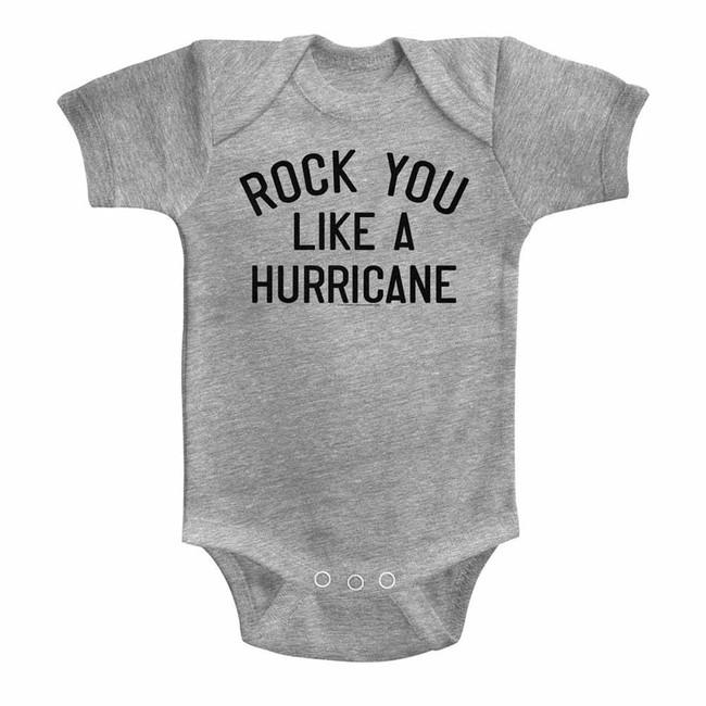 Scorpions Like A Hurricane Gray Heather Infant Baby Onesie