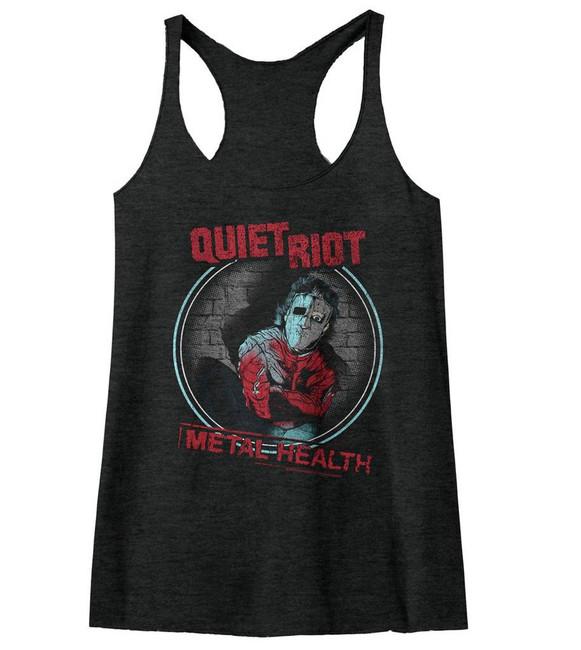 Quiet Riot Metal Health Black Junior Women's Racerback Tank Top T-Shirt