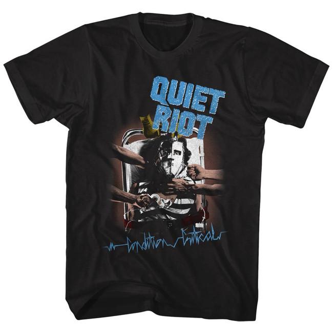 Quiet Riot Condition Critical Album Black Adult T-Shirt