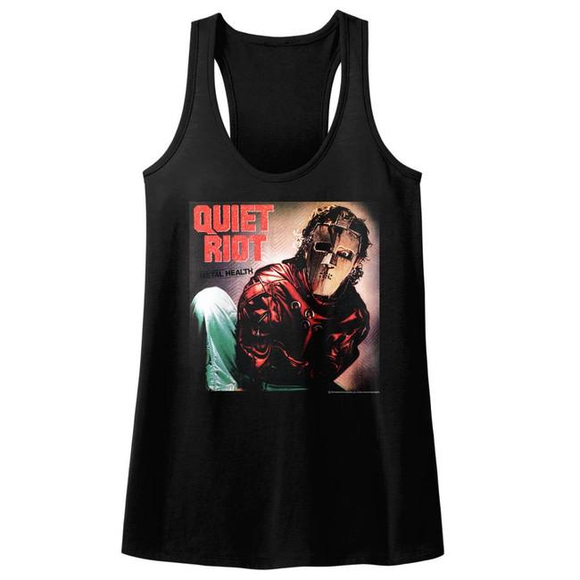 Quiet Riot Album Black Junior Women's Racerback Tank Top T-Shirt