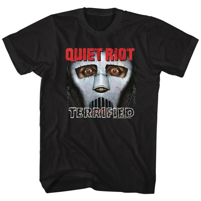 Quiet Riot Terrified Black Adult T-Shirt