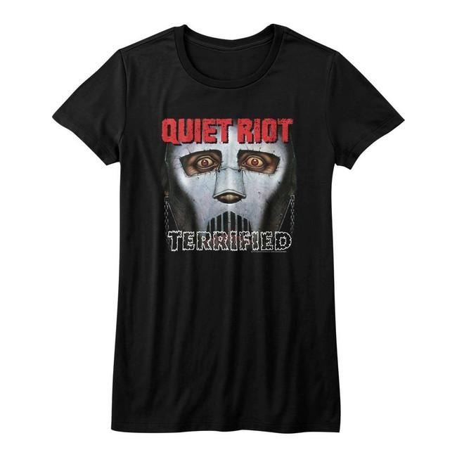 Quiet Riot Terrified Black Junior Women's T-Shirt