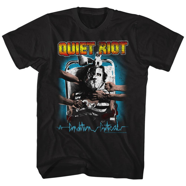 Quiet Riot Condition Critical Logo Black Adult T-Shirt