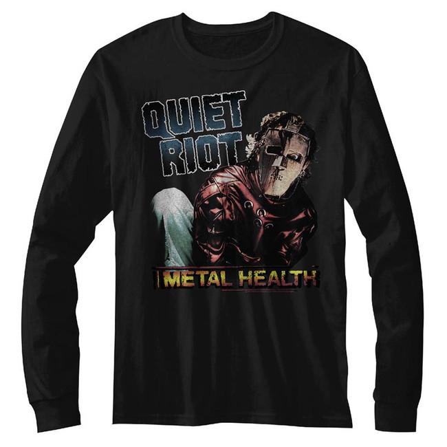 Quiet Riot Metal Health Black Adult Long Sleeve T-Shirt