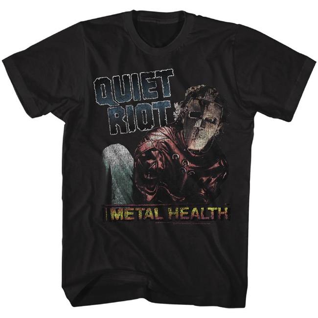 Quiet Riot Metal Health Black Adult T-Shirt
