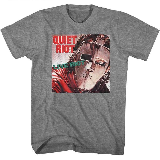 Quiet Riot Live Riot Heather Adult T-Shirt