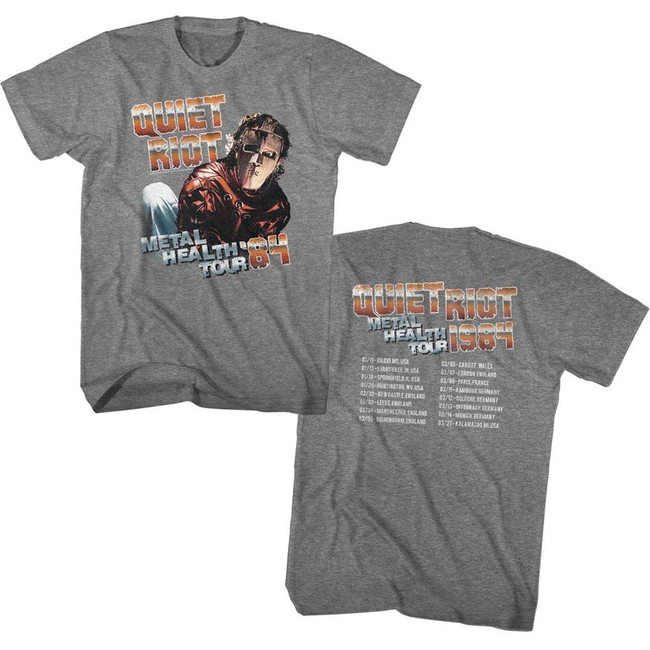 Quiet Riot Metal Health Tour Heather Adult T-Shirt