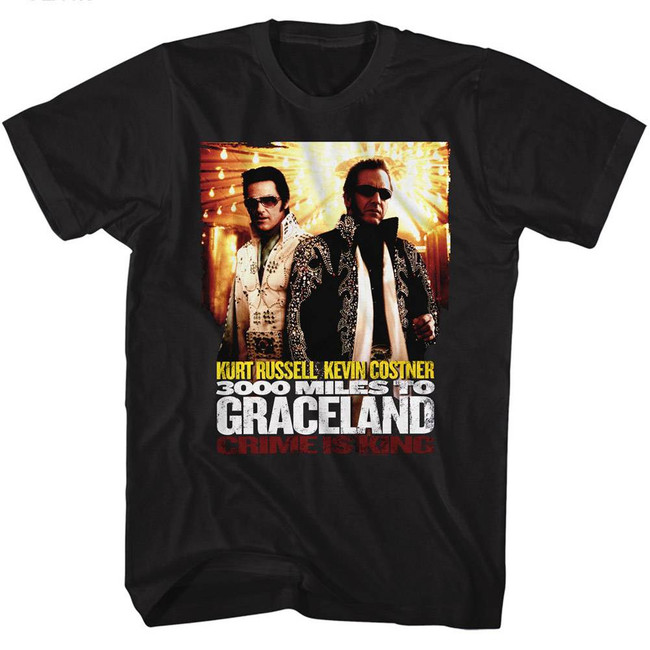 3000 Miles to Graceland Poster Black Adult T-Shirt
