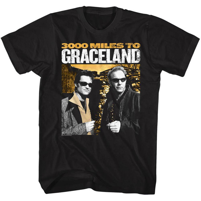3000 Miles to Graceland Black Adult T-Shirt