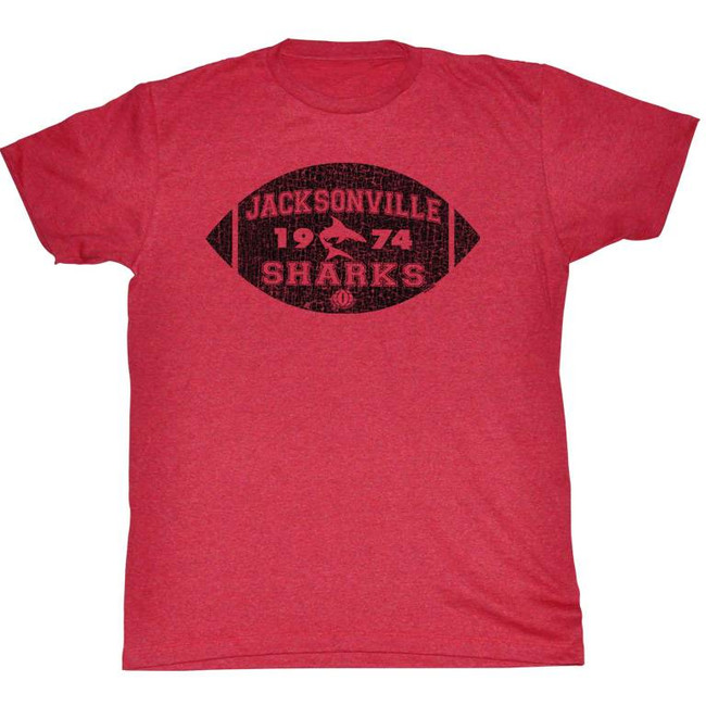 World Football League WFL Jacksonville Football Cherry Heather Adult T-Shirt