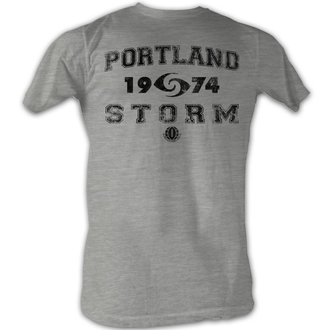 World Football League WFL P Storm Gray Heather Adult T-Shirt