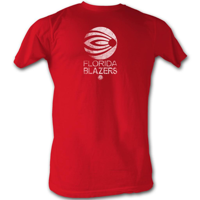 World Football League WFL Blazers White Red Adult T-Shirt